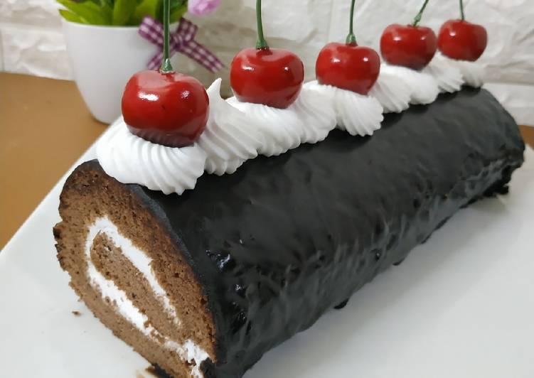 Bolu gulung coklat - cookandrecipe.com