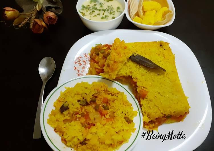 Baked Toor-Dal Vegetables Khichdi