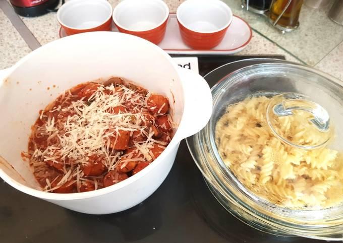 My Italian inspired Sausage Pasta. 💜