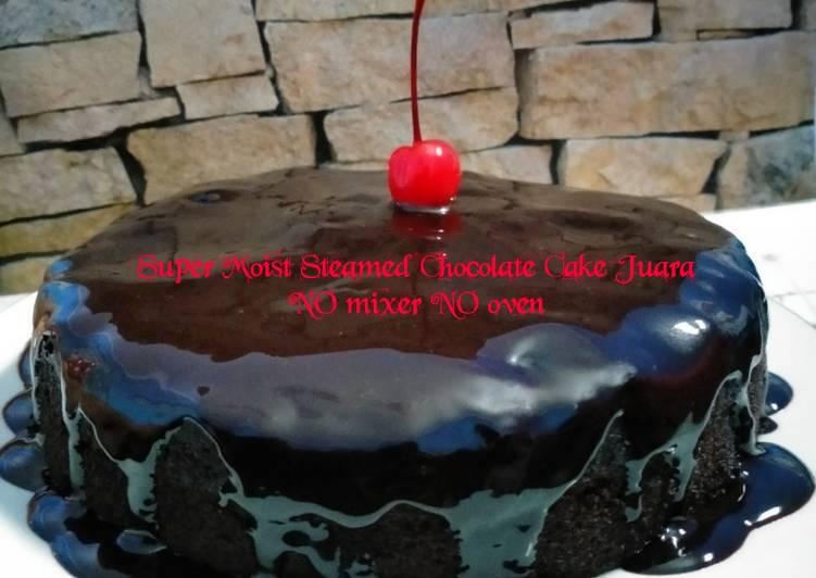 Super Moist Steamed Chocolate Cake Juara NO mixer NO oven