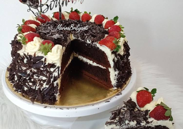 Resep Kue Ulang Tahun Sederhana Simple Birthday Cake Oleh Marina Briliyanti Cookpad