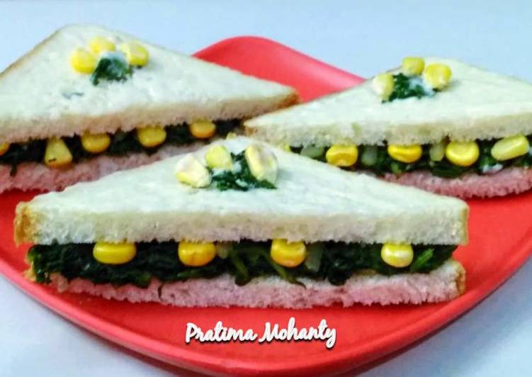 Foods That Can Make Your Mood Better Creamy Spinach Corn Sandwich