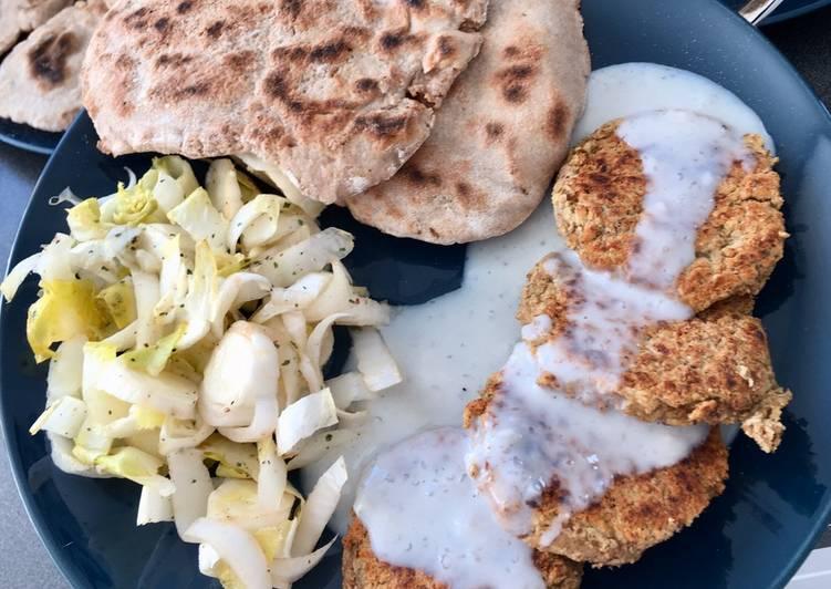 Recipe: Tasty Galettes de lentilles (vegan et sans gluten) – petits pains plats – sauce végétale miel/citron