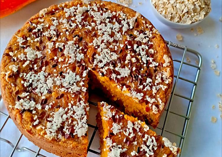 Vegan oats papaya cake