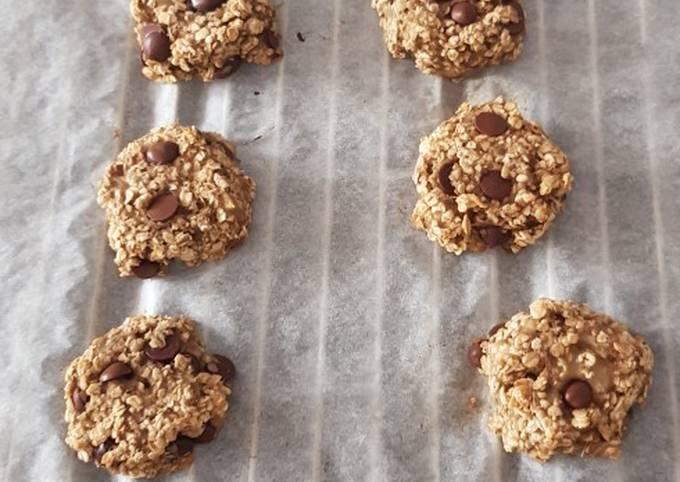 Cookie flocon d'avoine/banane/chocolat