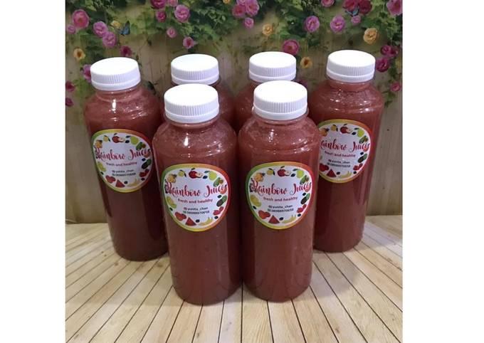 Diet Juice Celery Apple Grape Watermelon