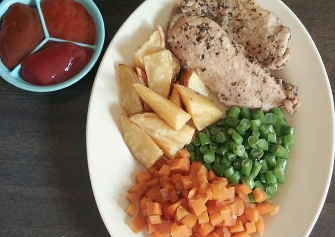 Chicken Steak Black pepper ala bu Tien