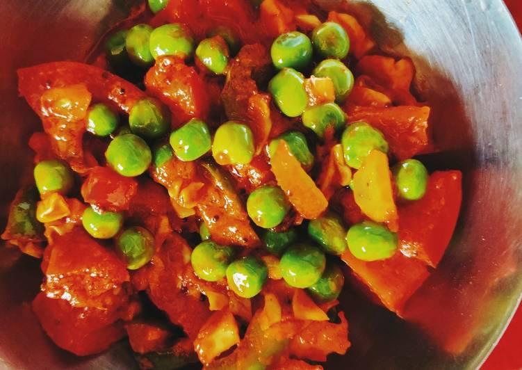 Easiest Way to Prepare Super Quick Homemade Green peas sabji
