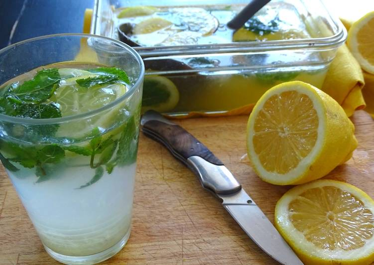 Recipe: Delicious Citronnade à la menthe