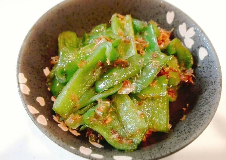Green Paprika with bonito flavour