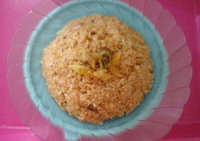 Nasi goreng uduk sederhana