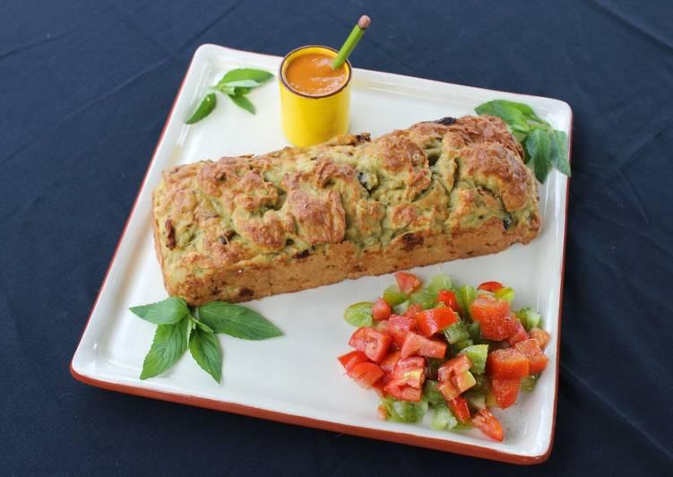 recette Cake au Poulet et aux légumes séchés Le plus simple