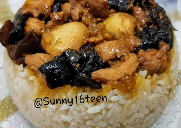 Resep Nasi Tim Ayam Jamur yang Lezat Sekali