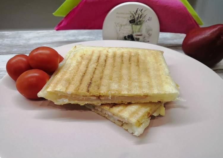 Gluténmentes melegszendvics, kenyér nélkül recept foto
