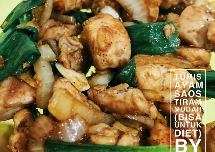 Tumis ayam saos tiram sangat mudah untuk diet