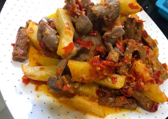 Ampela tempe kentang balado