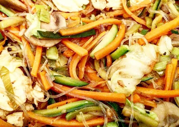 Ricetta Verdure e pollo orientali