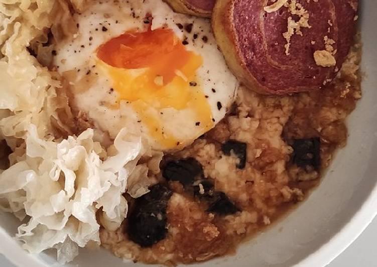 Savory nori oatmeal porridge