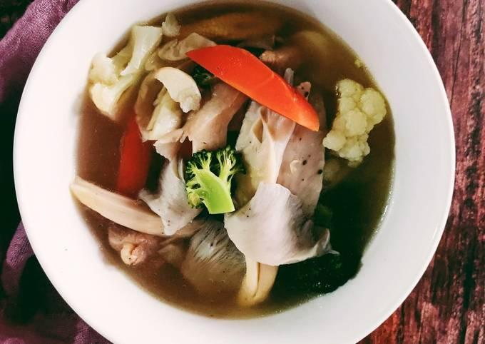 Sup Sayur dan Cendawan