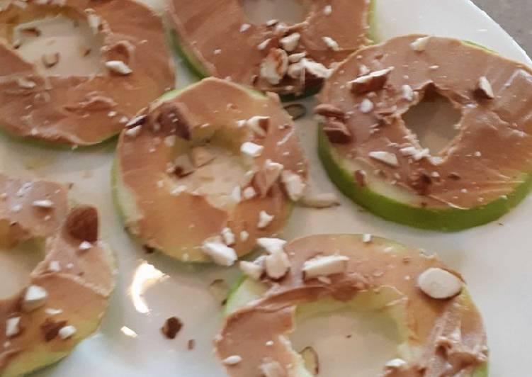 Peanut butter apple rings