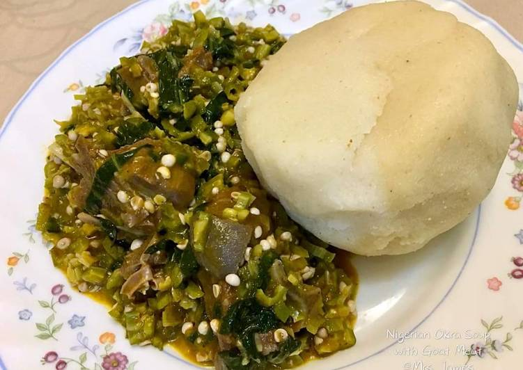 Recipe of Any-night-of-the-week Okro soup with garri