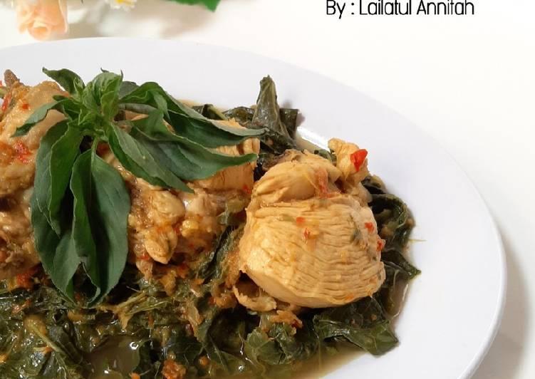 Ayam Betutu Daun Singkong