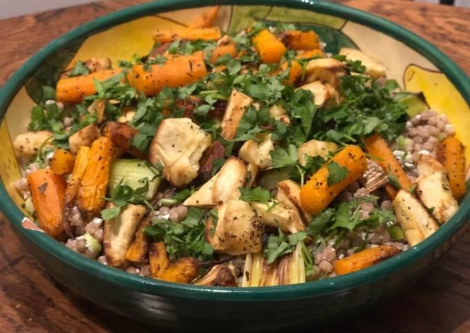 Leftover veg box cous cous salad
