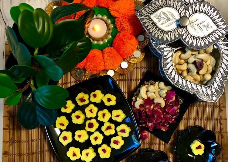 Recipe of Award-winning Paneer/chena & Cashews Burfi