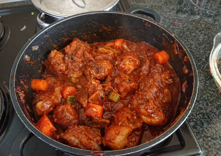 Step-by-Step Guide to Make Quick Chef Lesego's Oxtail Stew