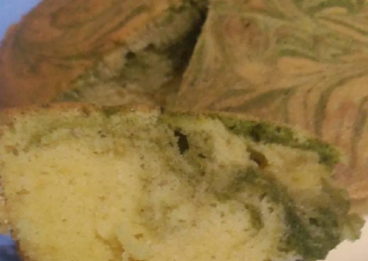 Green Tea Marble Cake