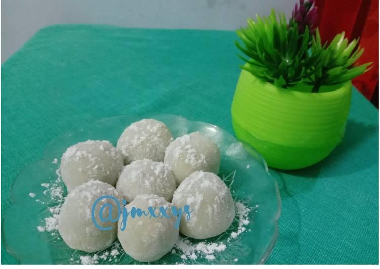 Mochi kacang simpel sederhana handmade (bahan no kukus,no oven)