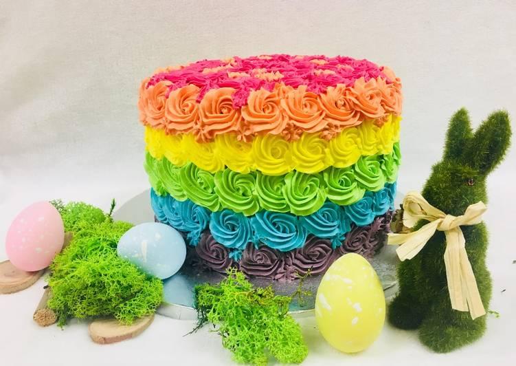 Délicieux Rainbow cake 3 chocolats