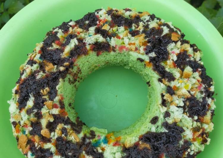 Bolu kukus Taro pop ice roti tawar tanpa Mixer dg 1 butir telur