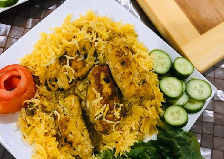 10 Minute Recipe of Autumn Chicken gola kabab pulao