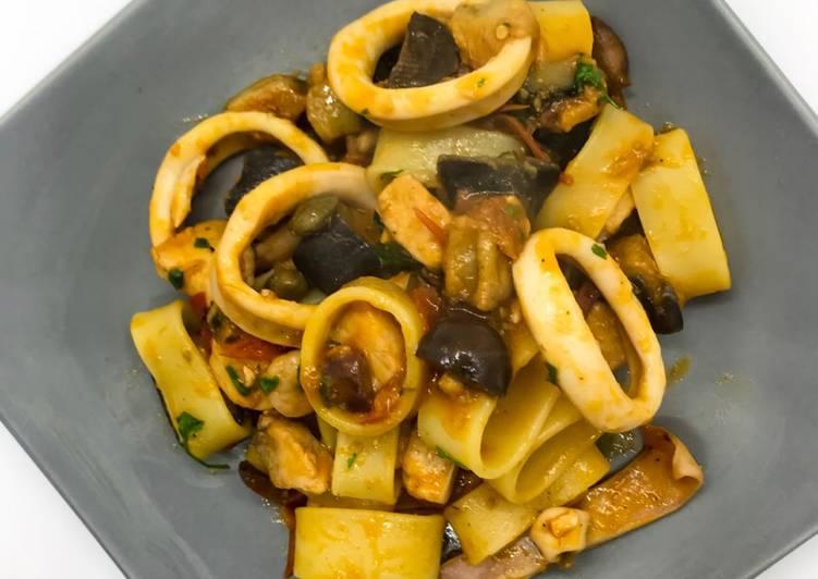 Ricetta Calamarata alla Siciliana