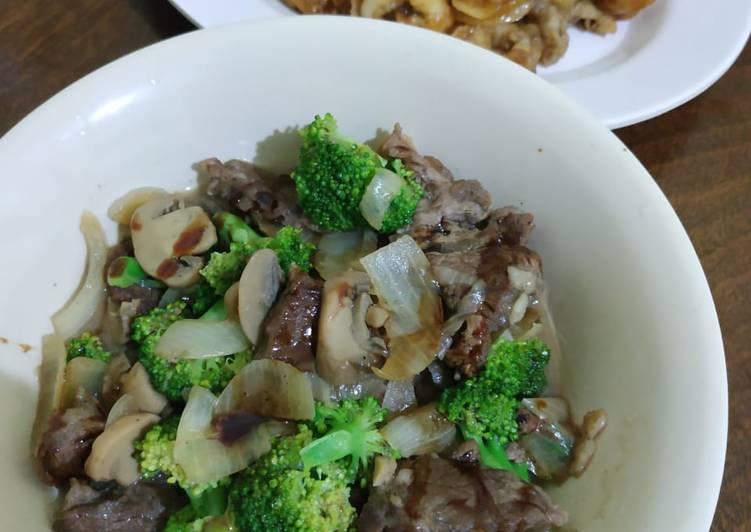 Cah Sapi Jamur Brokoli