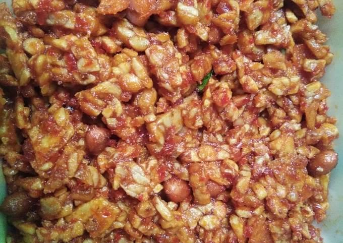 sambal goreng tkk (tempe,kacang,kentang) pedas manis - resepenakbgt.com