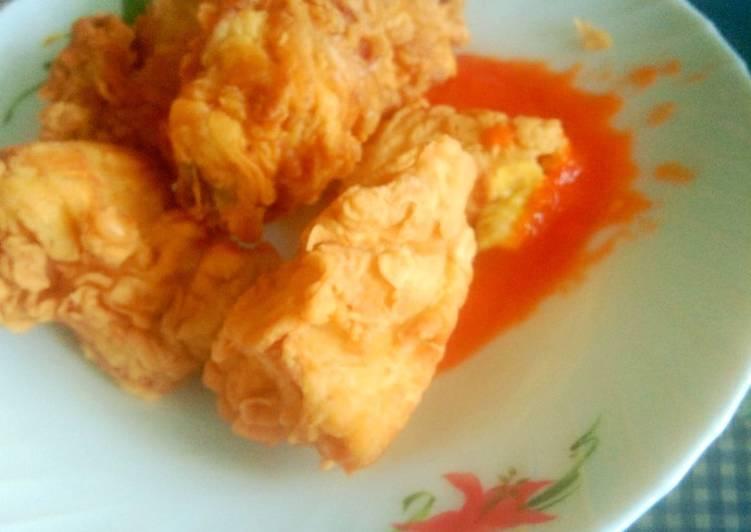 Ayam kampung masak ala KFC..