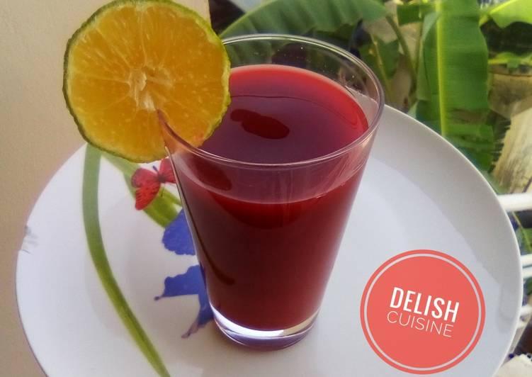 Easiest Way to Cook Delicious Beetroot Juice!
