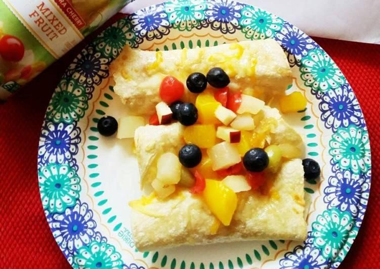Simple Way to Make Favorite Tropical Fruit Enchilada wrapped in Mango Coconut Chutney & Pineapple glaze
