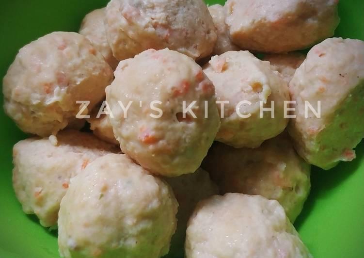 Bakso ayam sayur