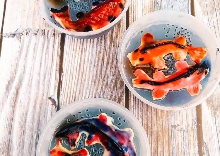 Puding Roti Ikan Koi Warna Warni - velavinkabakery.com