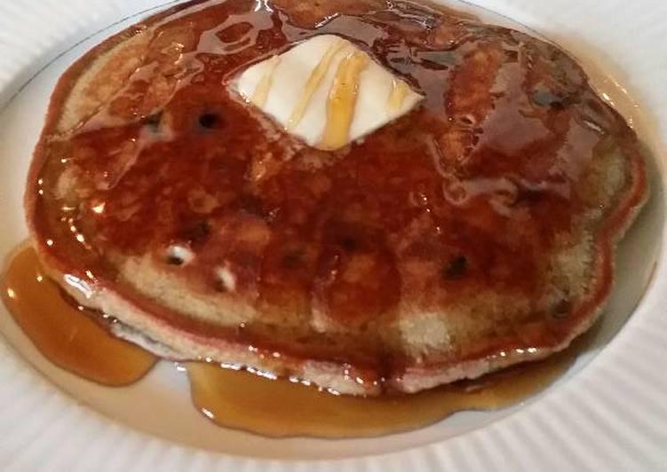 Brad's chocolate blueberry pancake