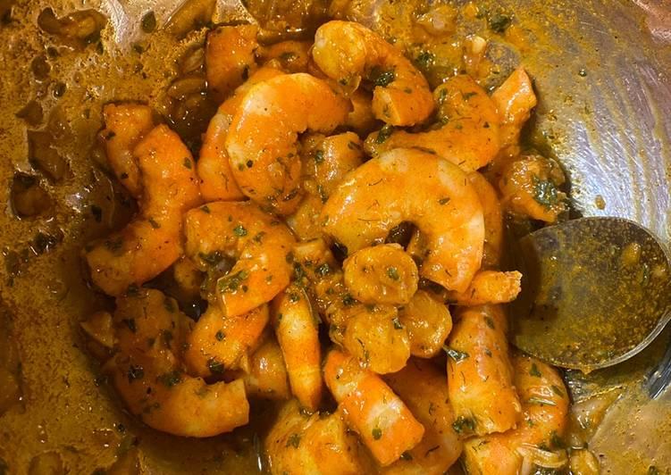 Brochettes de crevettes marinées 🍤