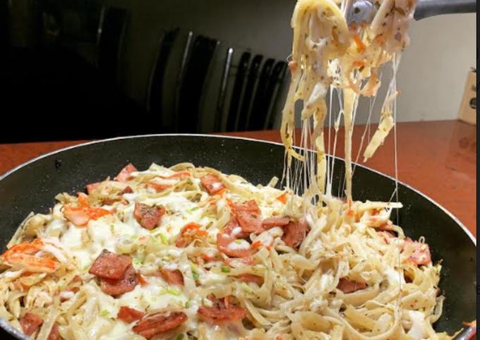 Simply pesto pasta baked