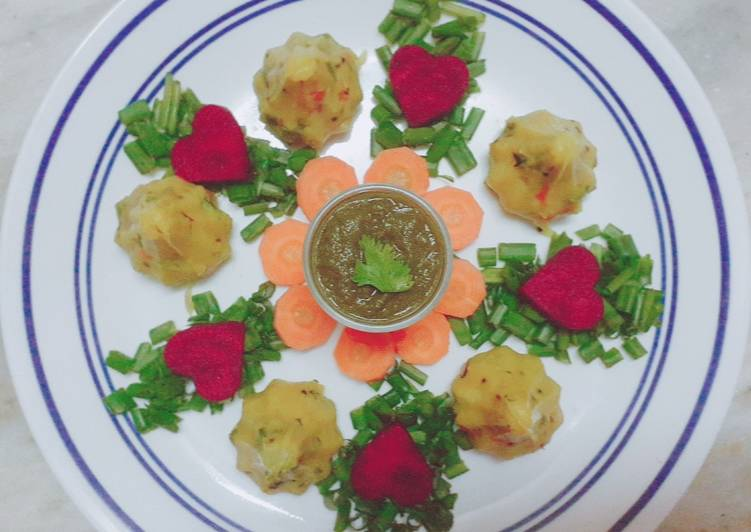 Steamed Veggie Khichu Modak