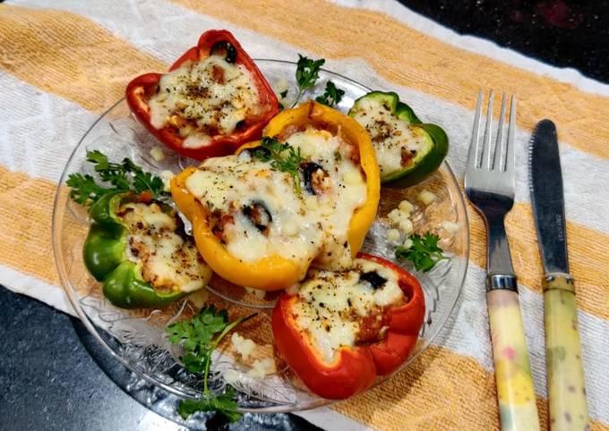 Italian Baked Bell peppers