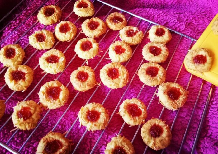 Strawberry Tumbprint Cookies