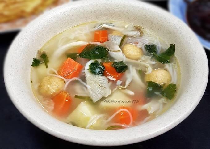 Sup sayur cendawan
