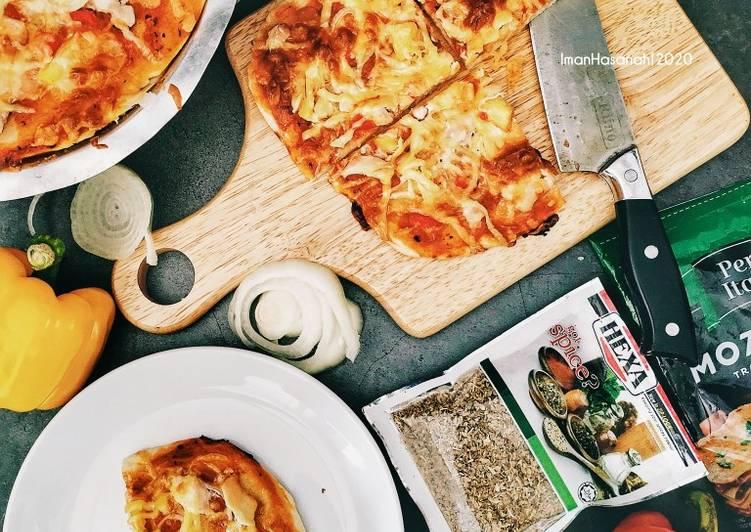 Resepi:  Pizza sourdough  Terbaru